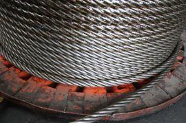 锻打钢丝绳6K31WS+IWR-21.5mm 打桩专用钢丝绳 锻打 扁丝