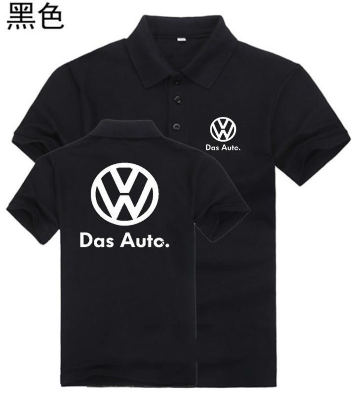 黑色夏季翻領短袖超市工作服T恤4S店汽車維修工形象工服定製logo