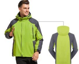 冬裝保暖防寒工作服定制戶外防水三合一兩件套衝鋒衣工裝印字logo
