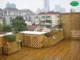 鄭州幼兒園綠化 防腐木花池防腐木葡萄架設計