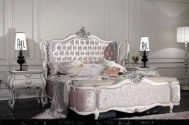 林氏木业法式床田园公主床1.8米双人床欧式床储物高箱床婚床