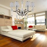 歐式現代鐵藝水晶吊燈客廳餐廳臥室吊燈6615