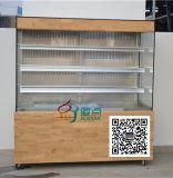 立式敞開式蛋糕櫃,甜點冷藏保鮮櫃,可定做天然橡木底座
