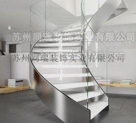 旋转楼梯 玻璃楼梯定制