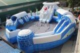 冰雪世界水上乐园 充气大滑梯