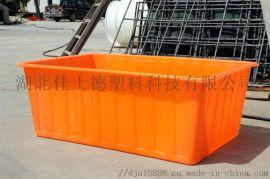塑料方箱周转箱物流箱湖北黄冈市厂家可加轮子