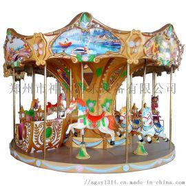 游乐场大中型儿童游乐设备12座豪华转马旋转木马