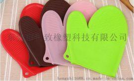 短款横纹硅胶手套 耐高温硅胶手套 硅胶烘焙手套