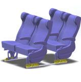 公交车车内座椅快拆装置轮椅固定装置