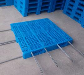 厂家直销塑料托盘  可加8根钢管 塑料垫板 货架托盘 托盘川字