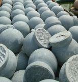 挡车花岗岩芝麻白500CM石球 广场用挡车石球