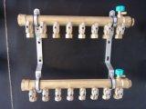分水器-双球阀锻造一体铜分水器 地热分水器 集分水器