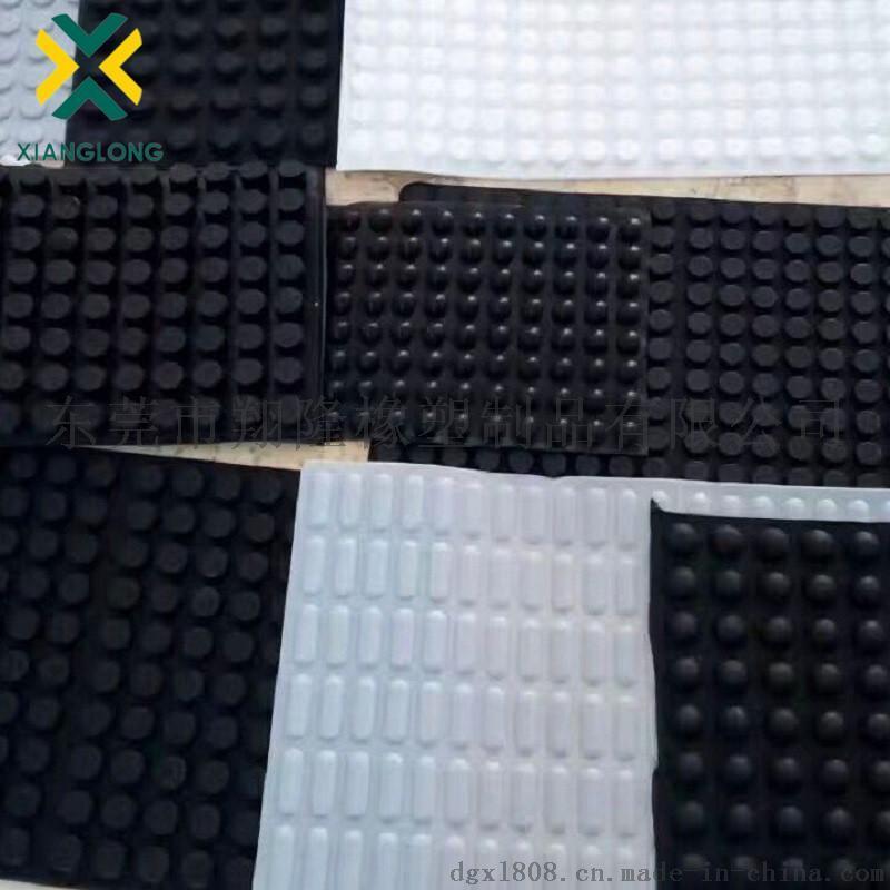 防滑耐磨硅胶脚垫 单面3M胶硅胶垫 减震耐高温格纹硅胶垫橡胶