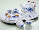 智慧陶瓷茶藝套裝-青玫瑰(HD-103A)