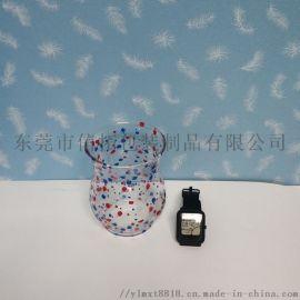 东莞玻璃杯无水水贴纸加工 夜光水转印低温花纸烤花