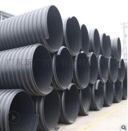 厂家直销供应广东茂名地区高增强内肋外波纹型塑料管