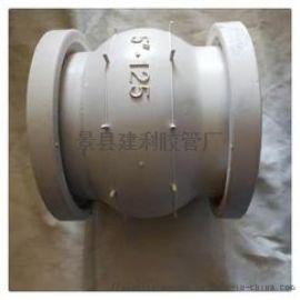 不锈钢法兰食品级橡胶软接头,白色食品级橡胶软接头