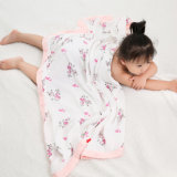 4层纱布浴巾 宝宝纱布抱被  婴儿纱布盖毯