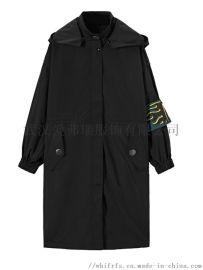 服装店定制货源圣朗丹女士皮风衣【一手货源】