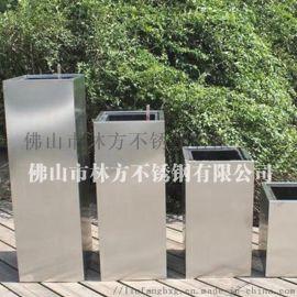 佛山厂家定做镜面拉丝方形立式不锈钢花盆