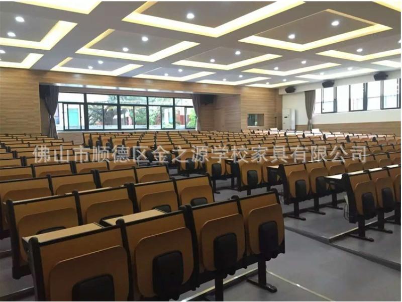 厂家直销善学阶梯教室排椅,会议礼堂合班室铁管排椅