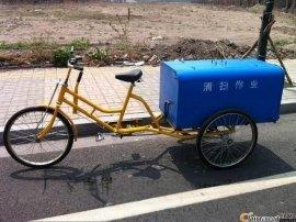 河北24全封闭环卫三轮车,献县1.0镀锌板大敞口人力三轮车