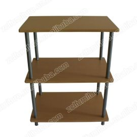 三层架储物柜PVC板木制