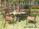 板岩方桌铸铝桌椅花园别墅户外桌椅休闲家具