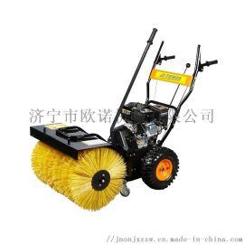 手推式汽油动力清雪机厂家 积雪路面清理专用扫雪机