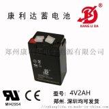 康利达4V2AH免维护铅酸蓄电池应急灯专用