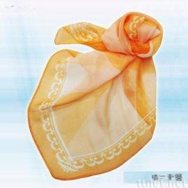 橘色渐层丝巾(S-008)