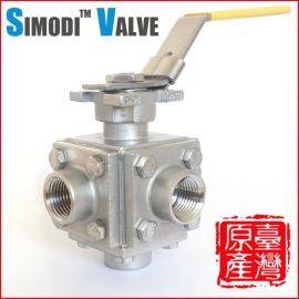 不锈钢五通球阀 台湾原产 五通丝扣球阀 一进四出 BV5-5DT