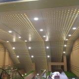 大型超市衝孔鋁單板吊頂 鏤空漸變孔鋁單板 透光鋁單板吊頂幕牆