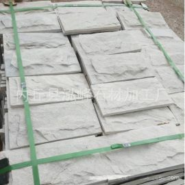 河北文化石绿色文化石白色蘑菇石厂家