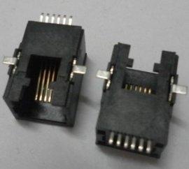 RJ12 6P6C电话插座水晶头母座网口SMT