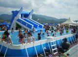 小白云充气组合水池-卡通充气城堡-大型充气蹦床