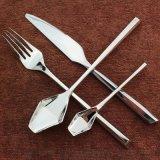 高檔菱形 六角不鏽鋼刀叉套裝 304牛排刀叉勺四件套 創意西餐食具