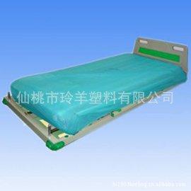 供应一次性白蓝色全/半包边无纺布床单/床罩,PE床罩,CPE床罩