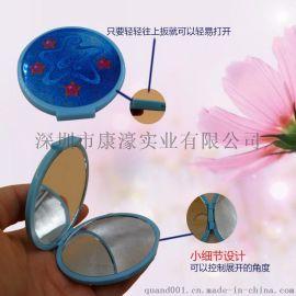 簡約時尚迷你雙面摺疊隨身鏡 廠家直銷