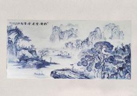 景德镇厂家直销家具镶嵌青花瓷瓷板瓷片