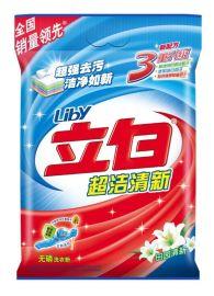供应超浓缩立白洗衣粉 天然皂粉自然清香柔顺加香型