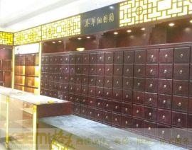 厂家定制高品质实木中药处方货柜,老中医药店诊所药房