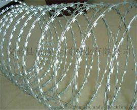 【刀片刺绳护栏网】厂家直销刀片刺网护栏,蛇腹形刀片刺网