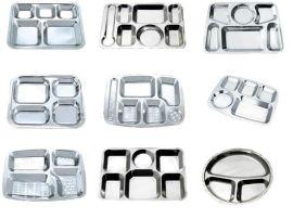 不锈钢快餐盘加工定制加深  食品级快餐盒