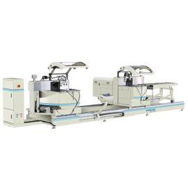 明美数控工业铝型材双头切割锯 铝工业型材切割锯