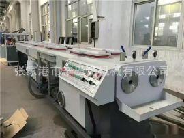 PVC包纱软管挤出生产线 pvc包覆纱增强线管生产线pvc塑料挤出机