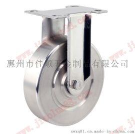 SUS304全不锈钢固定脚轮|5寸不锈钢轮定向|304不锈钢轮