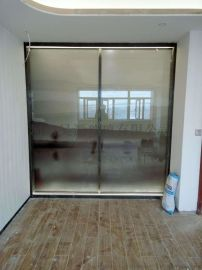 新中式水墨山水畫夾層玻璃