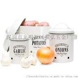 金属 铁制 土豆罐 蒜头罐 蔬菜储存桶 土豆桶