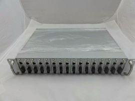 16槽机架式千兆光纤收发器 插卡式单模双纤 高清网络光端机一台